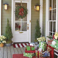 side porch, the doors, christmas door decorations, decorating ideas, front doors