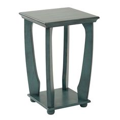 251 First Grace Caribbean Blue Square Accent Table On SALE