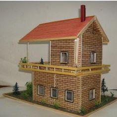 Evde Kolay Kartondan Maket Ev Yapımı Tarifi Açıklamalı