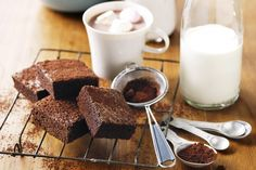 These fudgy brownies have the right chocolate flavour without being too rich.