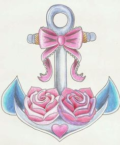 Cute anchor tattoo idea