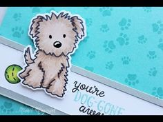 "nichol magouirk: Avery Elle Furry Friends | ""You're Dog-Gone Awesome"" Card (video)"