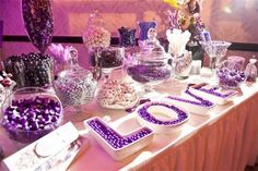 Brides favorite color was purple, we went for it and the guest L.O.V.E'd it ;-)  Adrienne Bowen Events