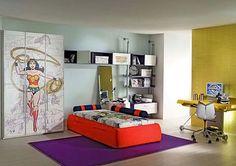 Wonder town bedroom cabinet for kids   Kids Bedroom in popular comic character theme design   Dream fun House