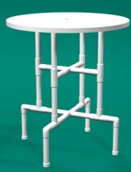 Pub Table Sets- Attractive And Functional In Any Family Room Bar Table Diy, Outdoor Bar Table, Patio Bar Set, Pub Table Sets, Bar Tables, Pvc Pipe Furniture, Folding Furniture, Pvc Pipe Crafts, Pvc Pipe Projects