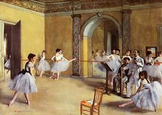 off Hand made oil painting reproduction of Dance Class at the Opera, rue Le Peletier, one of the most famous paintings by Edgar Degas. Around the year Edgar Degas started to paint ballerinas and balle. Edgar Degas, Renoir, Degas Paintings, Impressionist Paintings, French Paintings, Classic Paintings, Contemporary Paintings, Ballet Studio, Dance Studio