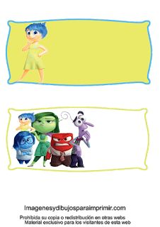 Etiquetas con personajes del reves para imprimir
