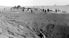 4th Division charge ashore