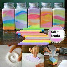 DIY kolorowa sól