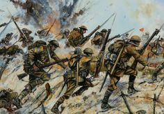 PASSCHENDAELE, 100 YEARS AGO TODAY  * Live blog from the trenches, T-minus 18 hours* 20 September 1917:  1.15am: Assembly is completed.  5.40am: ZERO HOUR. 'Fix bayonets!'Blog: https://justinfoxafrica.wordpress.com/category/blog/ Caption: 'Into the breach, lads!' (photo: Pinterest)