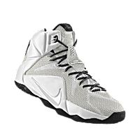 1fab4f85afd3 I designed the white Nike LeBron 12 iD men s basketball shoe with black  trim.