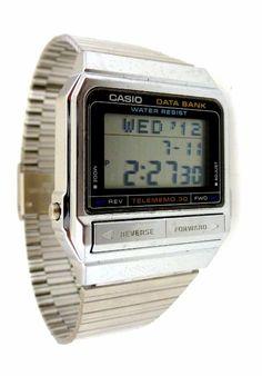 fe2f870d7dc Mint CASIO Data Bank Vintage 1980s LCD Watch DB-310A DB-310 DB310 Retro
