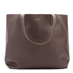 Leather Tote Chocolate