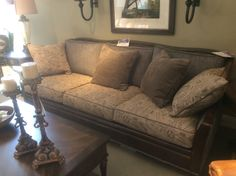 Hooker Furniture leather and upholstered sofa floor sample close out. 1499.95