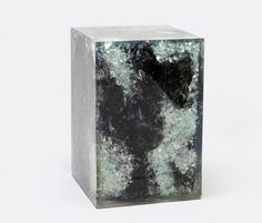 "1020XX resin | Search Results | Made Goods ORION Resin/Wood Stool Black Burnt Wood/Clear Resin, Bleached  12""Lx12""Wx18""H"