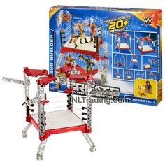 Mattel Year 2015 World Wrestling Entertainment Create A WWE Superstar RING BUILDER with Mix and Match for 20+ Rings