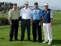 Mark O'Meara, Phil Mickelson, Tiger Woods and Fred Couples