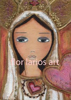 Inmaculado Corazón de María.  Obra de Flor Larios.