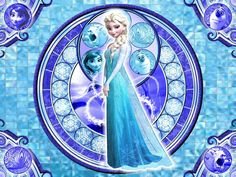 Princess Disney Elsa Frozen 010 Stained Glass Cross Stitch Pattern Counted Cross Stitch Chart, Pdf Format, Instant Download /275209 by icrossstitchpattern on Etsy