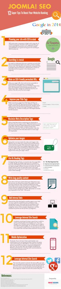 [Infographic] 12 super Joomla! SEO tips to boost your website ranks in 2014