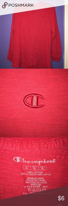 Men's Champion long sleeve shirt This is a Champion red men's long sleeve shirt. Champion Tops Tees - Long Sleeve