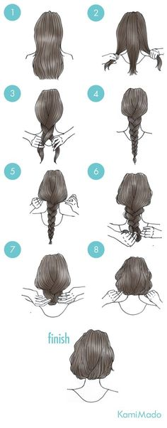 Change the bored long hair to Bob! Hair arrangement 【with illustration】 Rock your inner artist at th Cute Simple Hairstyles, Fancy Hairstyles, Braided Hairstyles, Hair Sketch, Hair Arrange, Hair Reference, Hair Art, Hair Designs, Hair Hacks