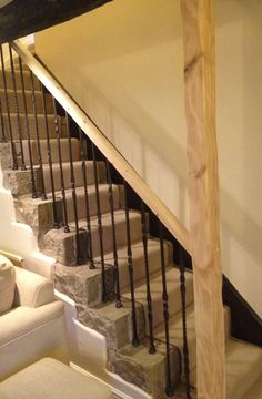 New handrail with iron spindles