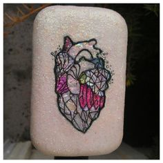 I'd like this as a tattoo for the kiddo, who's really into gems and minerals. Pastel Goth Bubble goth Pastel Crystal Anatomically by QuickPanik, $24.00