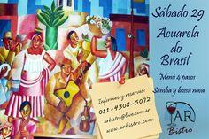 Vamos a disfrutar una noche al ritmo de Brasil. Degustaremos un menú de 4 pasos con platos típicos preparado por el chef Ricardo Aisen  y escucharemos la mejor música de samba y bossa nova interpretada por Carolina Dussaut y Santiago Rodriguez en guitarra.  ¡Para no perdérsela!
