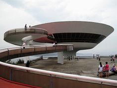 Exterior of Oscar Niemeyer's Museum of Contemporary Art, Niteroi. Niterói (Portuguese pronunciation: [niteˈɾɔj]) is a city and municipality in the state of Rio de Janeiro, in southeast region of Brazil.