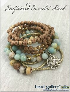 Driftwood Necklace/Bracelet set designed by Molly Schaller for Pretty Palettes. Click for DIY instructions to make your own!