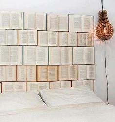 Book headboard - love it!