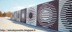 Grenoble - Tribunes de l'Anneau de vitesse - Vasarely