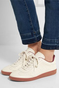 Isabel Marant | Étoile Bryce perforated leather sneakers | NET-A-PORTER.COM
