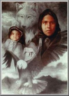 Native American Wolf Spirit | guardians warrior spirit family wolf clan wolf clan spirit wolves wind ...
