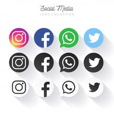 Popular social media logo collection in circles Free Vector Instagram Mobile, Instagram Logo, Social Media Logos, Social Media Icons, Social Networks, Web Banner, Simbolos Do Facebook, Icones Facebook, Internet Icon