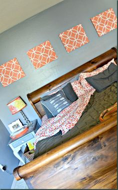 DIY Stenciled Canvas Art | Endless Circles Lattice Moroccan Stencil | Project by Refunk My Junk http://refunkmyjunk.com/diy-canvas-art-royal-design-stencils/