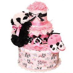 Baby Panda Diaper Cake - $99.00 : Diaper Cakes Mall, Unique Baby ...