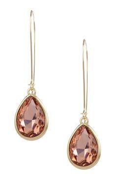 Crystal Teardrop Dangle Earrings by Stella + Ruby