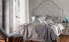 Voyage - Linen Prints, Checks and Stripes : Mark Alexander, Soft Natural Fabrics, Wallcoverings
