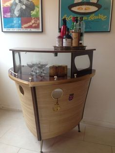 Vintage 1950's Boat Cocktail Bar. Possibility for man cave bar.