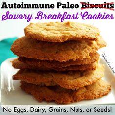 Autoimmune Paleo Savory Breakfast Cookies (aka flattened biscuits)