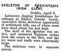 Giant Human Skeletons: Ten Foot Nephilim Giants Unearthed in Ireland Nephilim Bones, Nephilim Giants, Ancient Aliens, Ancient History, Out Of Place Artifacts, Giant Skeleton, Alien Creatures, Things To Know, Strange Things