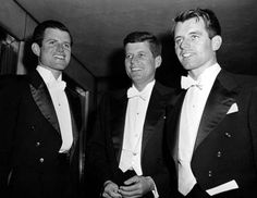 The Kennedy brothers - Edwards, John, Robert at the Gridiron Club dinner in Washington, D.C., on March 15, 1958
