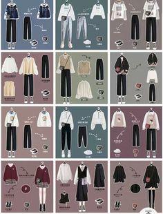 Modern Hijab Fashion, Korean Girl Fashion, Korean Fashion Trends, Ulzzang Fashion, Korean Street Fashion, Kpop Fashion Outfits, Korea Fashion, Look Fashion, Korean Casual Outfits