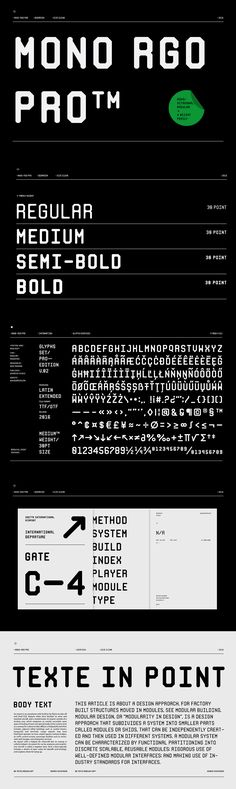 Mono RGO Pro - Mono RGO Pro is a clean, technical styled sans-serif typeface inspired by boarding passes.