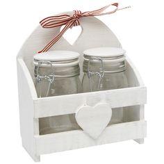 Set Of 2 Sweetheart Medium Storage Jars   DotComGiftShop