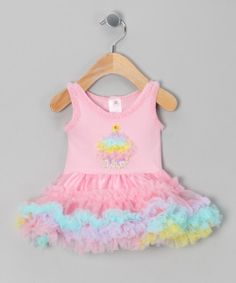 Take a look at the Pink Cupcake Ruffle Dress - Infant on #zulily today!