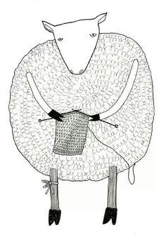 I wear my yarn as I knit my scarf. ..