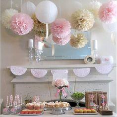 Mixed Size 10cm,15cm,20cm Tissue Paper Pom Poms Artificial Flowers Balls Birthday Wedding Decoration Kids Party Supplies from Jimvivi,$272.26 | DHgate.com
